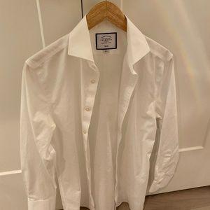Charles Tyrwhitt White Slim Fit Dress Shirt 15/32